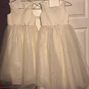 Matching Flower girl dresses.  Size 4 and size 6